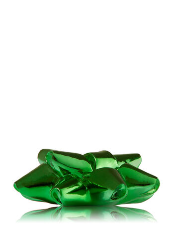 Green Christmas Bow 3-Wick Candle Lid Magnet