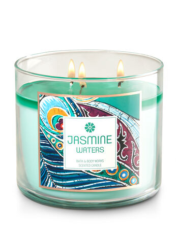 Jasmine Waters 3-Wick Candle - Bath And Body Works