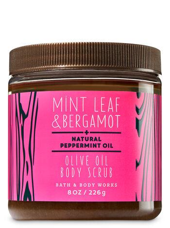 Mint Leaf & Bergamot Olive Oil Body Scrub - Bath And Body Works