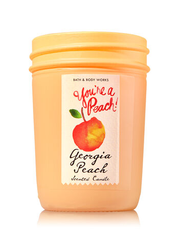 Georgia Peach Medium Candle - Bath And Body Works
