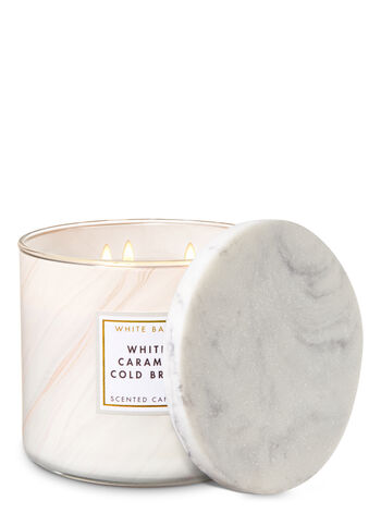 White Caramel Cold Brew 3-Wick Candle