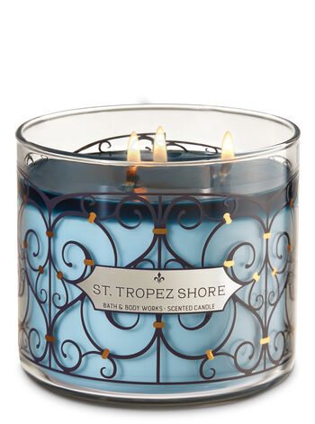 St. Tropez Shore 3-Wick Candle - Bath And Body Works