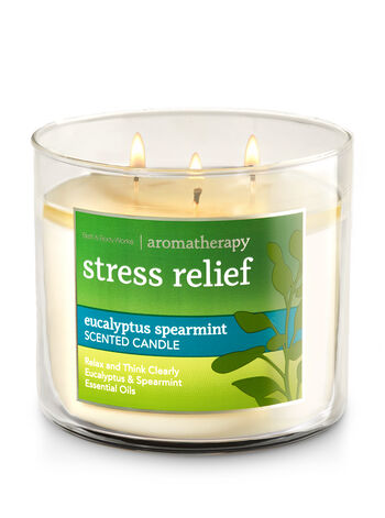 Aromatherapy Eucalyptus Spearmint 3-Wick Candle - Bath And Body Works