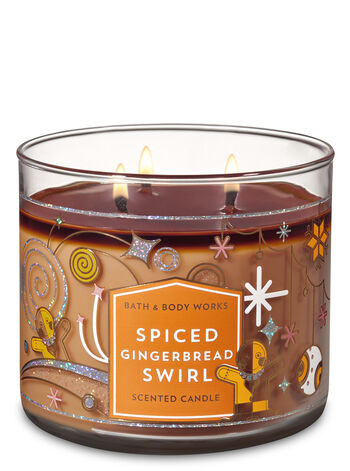 Spiced Gingerbread Swirl 3-Wick Candle - Bath And Body Works