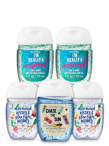 Seas the Day PocketBac Hand Sanitizers, 5-Pack - Bath And Body Works