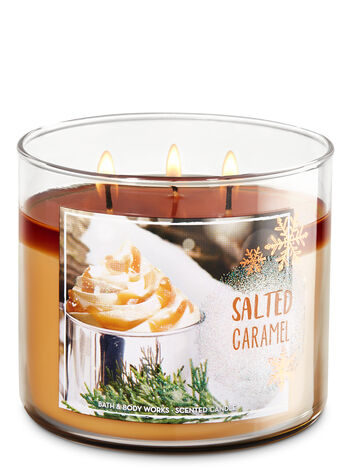 Salted Caramel 3-Wick Candle - Bath And Body Works