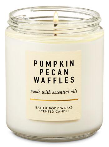 Pumpkin Pecan Waffles Single Wick Candle - Bath And Body Works