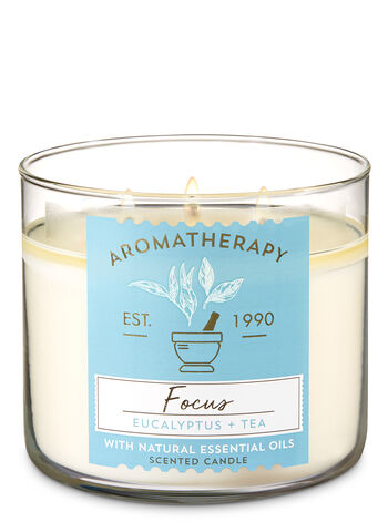 Aromatherapy Focus - Eucalyptus & Tea 3-Wick Candle - Bath And Body Works