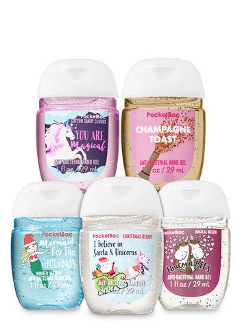 Holiday Unicorns & Mermaids PocketBac Hand Sanitizers, 5-Pack - Bath And Body Works