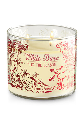 White Barn Tis the Season 3-Wick Candle - Bath And Body Works