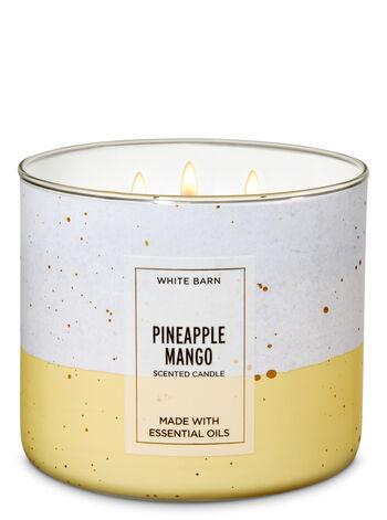 White Barn Pineapple Mango 3-Wick Candle - Bath And Body Works
