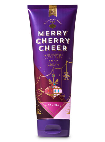 Signature Collection Merry Cherry Cheer Ultra Shea Body Cream - Bath And Body Works