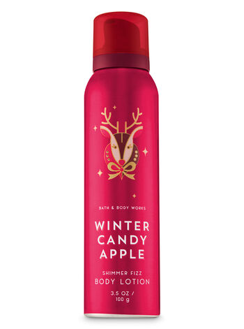 Signature Collection Winter Candy Apple Shimmer Fizz Body Lotion - Bath And Body Works