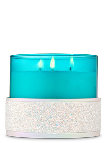Glittery Iridescent 3-Wick Candle Holder - Bath And Body Works