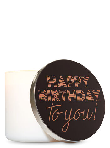 Happy Birthday 3-Wick Candle Lid Magnet - Bath And Body Works