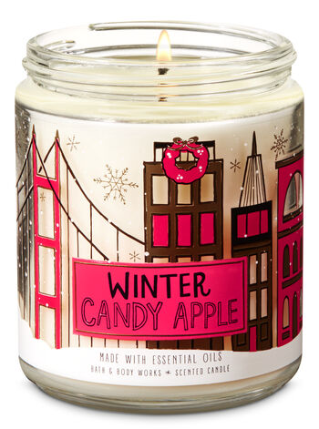 Winter Candy Apple Single Wick Candle - Bath And Body Works