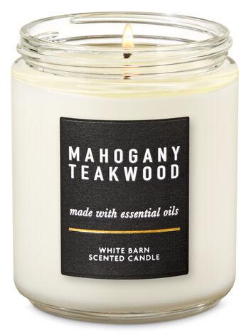 Mahogany Teakwood Single Wick Candle - Bath And Body Works