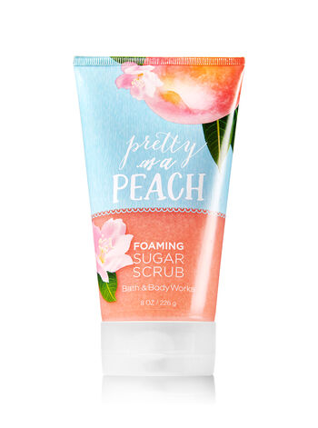 Signature Collection Pretty as a Peach Foaming Sugar Scrub - Bath And Body Works