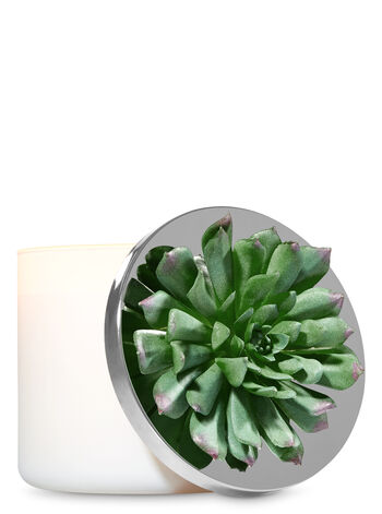 Dark Green Succulent 3-Wick Candle Magnet - Bath And Body Works