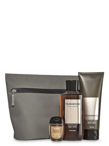 Teakwood men 39 s gift set bath body works for Mens bath set
