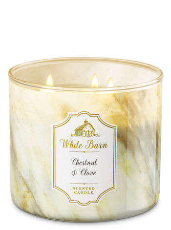 White Barn Chestnut & Clove 3-Wick Candle - Bath And Body Works