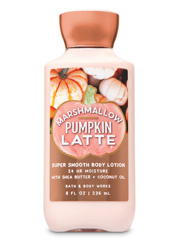Marshmallow Pumpkin Latte Super Smooth Body Lotion - Bath And Body Works