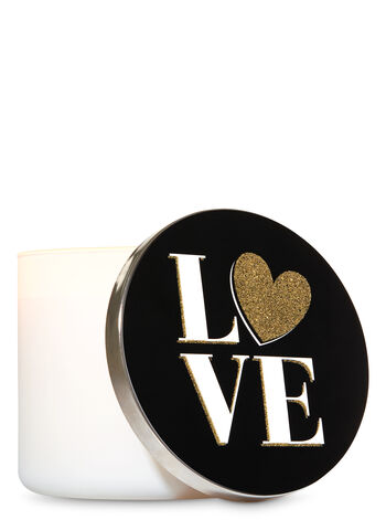 Love 3-Wick Candle Lid Magnet - Bath And Body Works