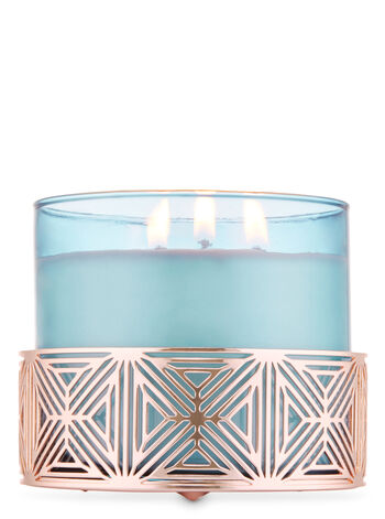 Rose Gold Geometric 3-Wick Candle Sleeve - Bath And Body Works