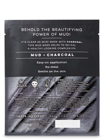 Mud Mask with Purifying Charcoal Face Sheet Mask