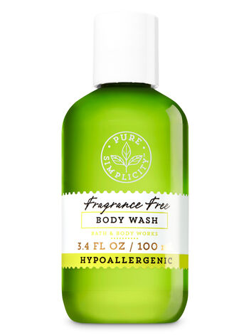 Fragrance Free Travel Size Body Wash - Bath And Body Works