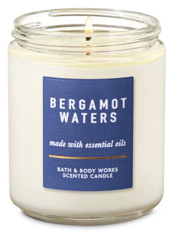 Bergamot Waters Single Wick Candle - Bath And Body Works