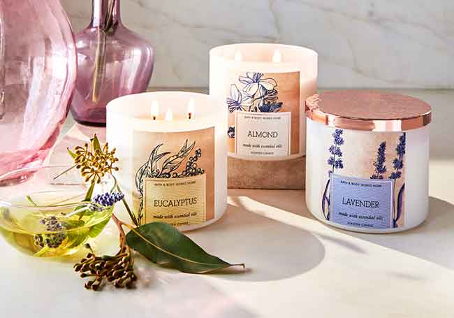 Natural candles collection