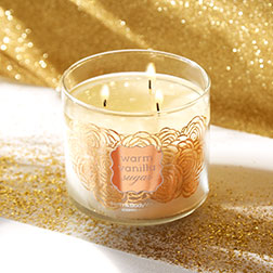 Warm Vanilla Sugar 3-Wick Candle - Bath And Body Works