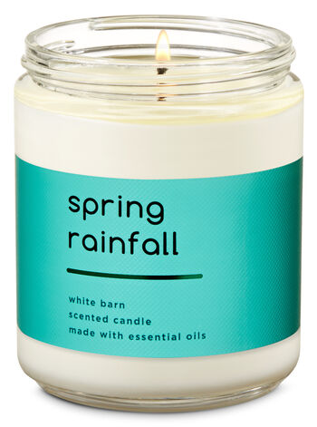 Spring Rainfall Single Wick Candle - Bath And Body Works