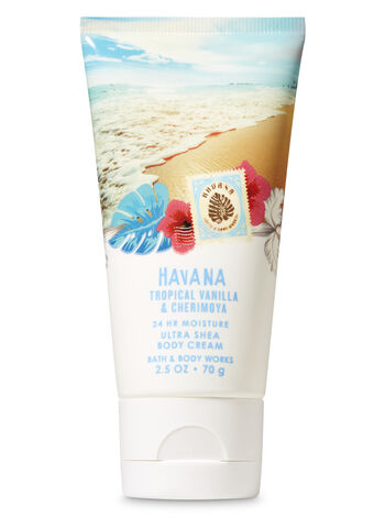 Signature Collection Tropical Vanilla & Cherimoya Travel Size Body Cream - Bath And Body Works