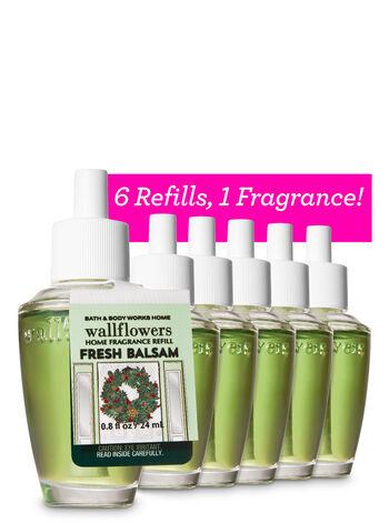 Fresh Balsam Wallflowers Refills, 6-Pack