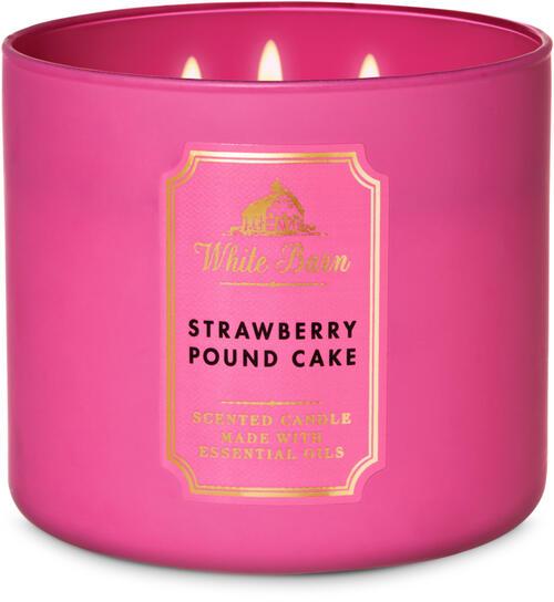Strawberry Pound Cake 3-Wick Candle