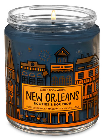 Bowties & Bourbon Single Wick Candle - Bath And Body Works