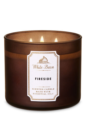 White Barn Fireside 3-Wick Candle - Bath And Body Works