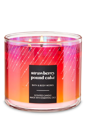 Strawberry Pound Cake 3-Wick Candle - Bath And Body Works