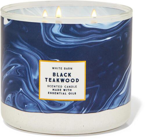 Black Teakwood 3-Wick Candle