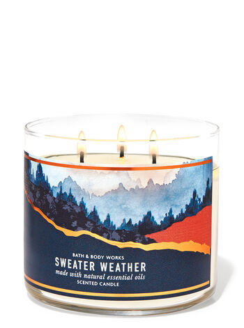 Sweater Weather 3-Wick Candle | Bath & Body Works