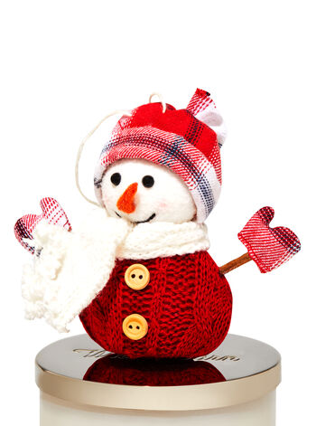 Red Snowman 3-Wick Candle Magnet