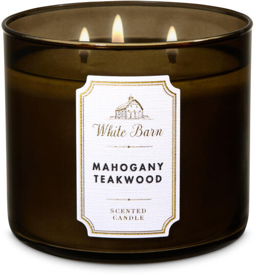 Mahogany Teakwood 3 Wick Candle Bath Body Works