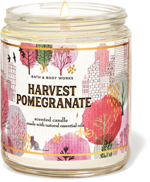 Harvest Pomegranate Single Wick Candle