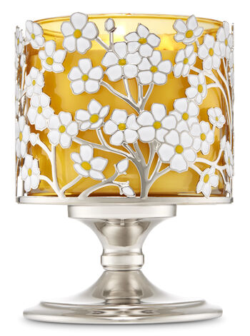 Spring Flower Pedestal 3-Wick Candle Holder - Bath And Body Works