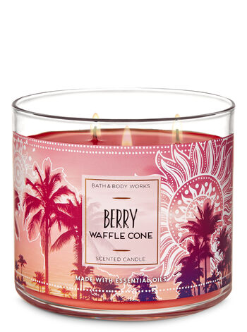Berry Waffle Cone 3-Wick Candle - Bath And Body Works