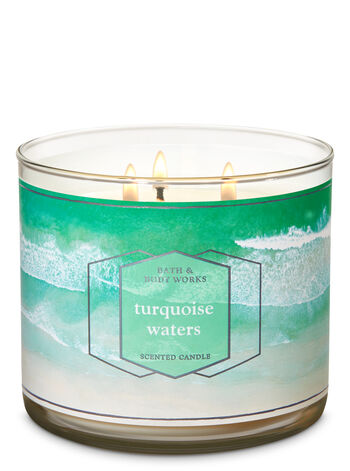 Turquoise Waters 3-Wick Candle - Bath And Body Works
