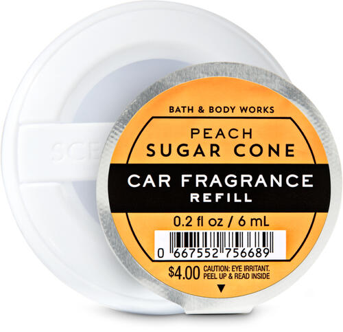 Peach Sugar Cone Car Fragrance Refill