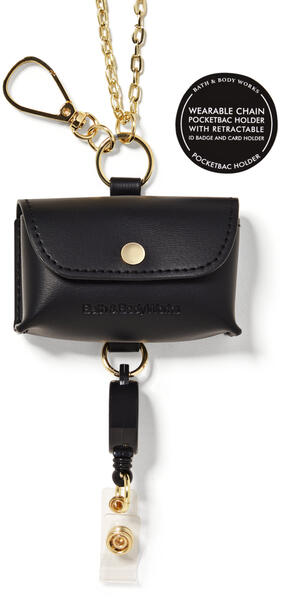 Wearable Snapcase Chain ID Card PocketBac Holder